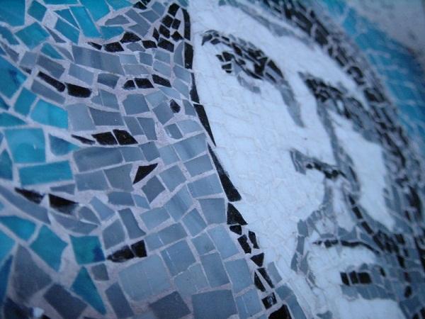 Mosaik das Che Guevara zeigt