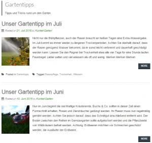 Kunkel Website Inhalte: Gartentipps