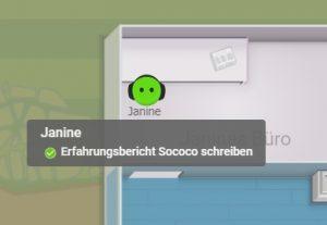 Die Statusfunktion bei Sococo