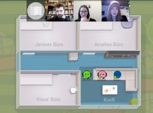Per Webcam sind wir auch digital ganz gut verbunden