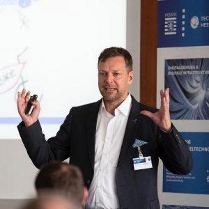 Dr. Klaus M. Bernsau bei Innovation Starts von Hessen Trade & Invest